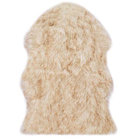 shumee barna melanzsszínű műbáránybőr szőnyeg 60 x 90 cm