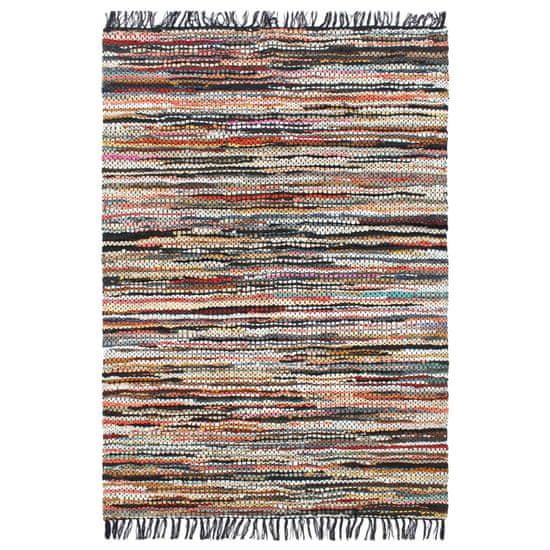shumee Ručně tkaný koberec Chindi kůže 80 x 160 cm vícebarevný