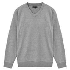 5 swetrów męskich z dekoltem w serek, szary, M