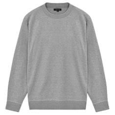 5 swetrów męskich z okrągłym dekoltem, szary, M