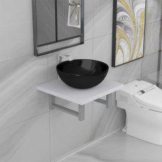 shumee 2dílný set koupelnového nábytku keramika bílý