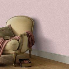 Netkané tapetové rolky 2 ks, jednofarebné, ružové 0,53x10 m