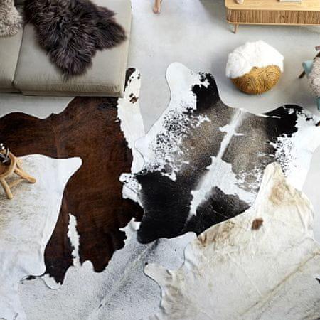 Dywan z krowiej skóry, czarno-biały, 150x170 cm