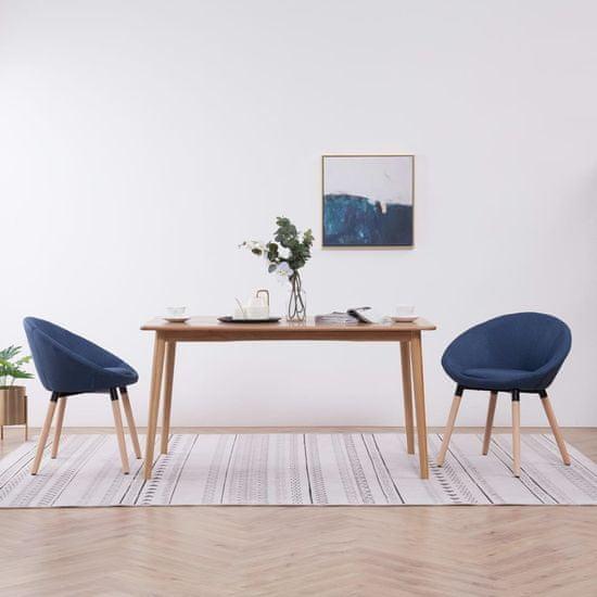 Jedálenské stoličky 2 ks modré látkové