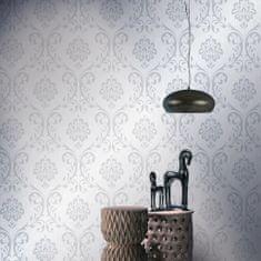 Netkané tapetové rolky 2 ks, biele 0,53x10 m, ornamenty