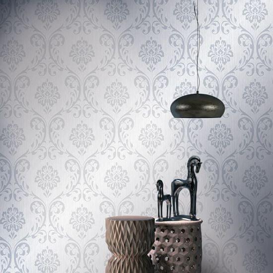shumee 2 ks netkané tapetové role bílé 0,53 x 10 m ornamenty
