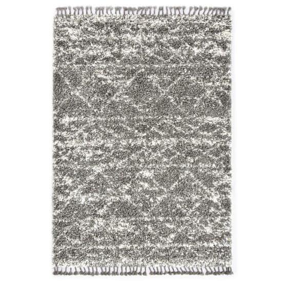 Koberec Berber chlpatý sivý a béžový 160x230 cm PP
