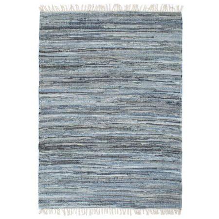 shumee kék, kézzel szőtt farmervászon Chindi szőnyeg 120 x 170 cm