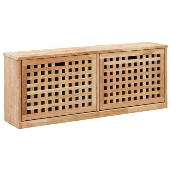 Úložná lavica na topánky 94x20x38 cm masívne orechové drevo