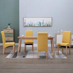 Vidaxl Jídelní židle 4 ks žluté textil