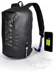 Port Designs Sausalito Backpack batoh na 15,6″ notebook a 10,1″ tablet 135064, čierna
