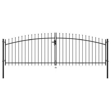 shumee dupla ajtós lándzsahegy tetejű kerítéskapu 400 x 150 cm