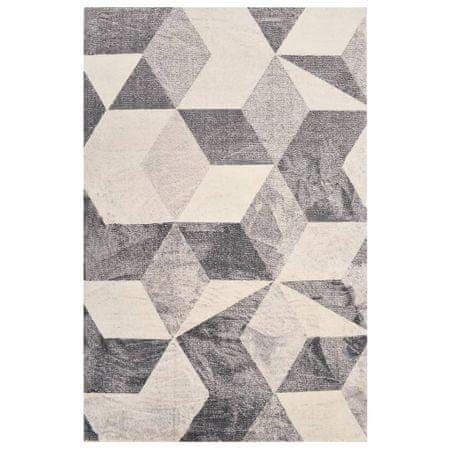shumee bézsszínű mintás poliészterszőnyeg 80 x 150 cm