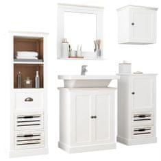 shumee 5-dielna kúpeľňová sada nábytku masívne drevo biela
