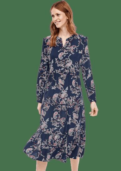 s.Oliver dámske šaty 14.003.81.5975 36 tmavomodrá
