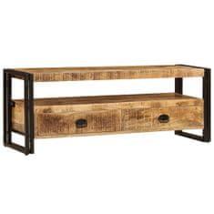 shumee TV stolek 120 x 35 x 45 cm masivní mangovníkové dřevo