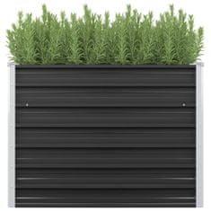 shumee Vyvýšený záhradný záhon, antracit 100x40x77cm, pozinkovaná oceľ
