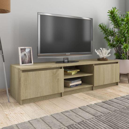 TV stolek dub sonoma 140 x 40 x 35,5 cm dřevotříska