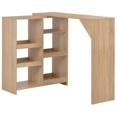 shumee Barový stůl s pohyblivým regálem dubový 138 x 40 x 120 cm