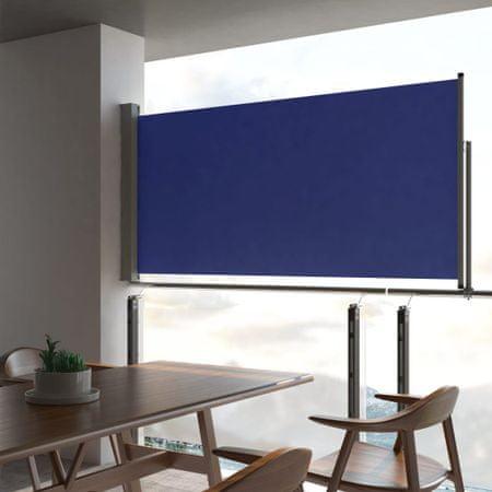 shumee Wysuwana markiza boczna na taras, 120 x 300 cm, niebieska