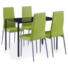 shumee 5dílný jídelní set zelený