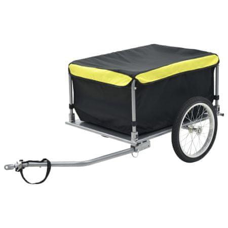 slomart Tovorna kolesarska prikolica črna in rumena 65 kg