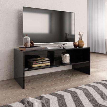 shumee Szafka TV, czarna, wysoki połysk, 100x40x40cm, płyta wiórowa