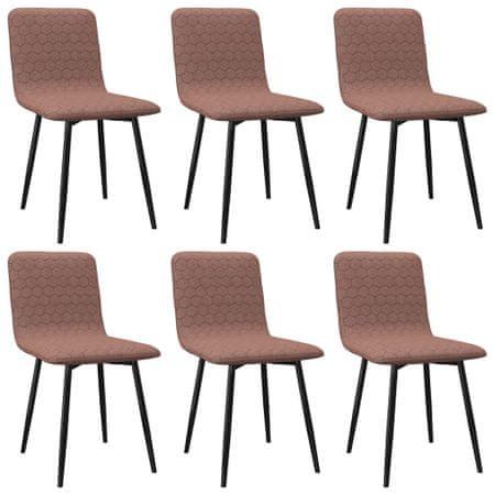shumee Jedilni stoli 6 kosov rjavo blago