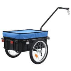 shumee Przyczepa rowerowa/taczka, 155x61x83 cm, stalowa, niebieska