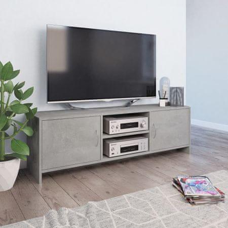 shumee betonszürke forgácslap TV-szekrény 120 x 30 x 37,5 cm
