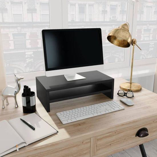 Stojan na monitor čierny 42x24x13 cm drevotrieska