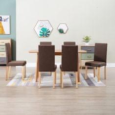 Vidaxl Jídelní židle 6 ks hnědé textil