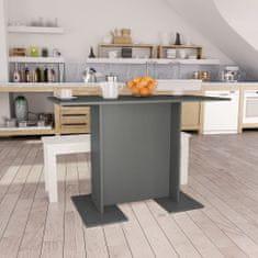 shumee Jídelní stůl šedý 110 x 60 x 75 cm dřevotříska