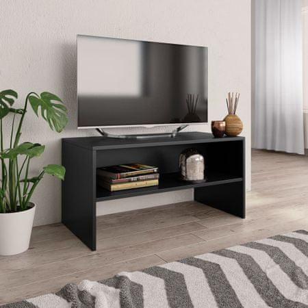 shumee Szafka pod TV, czarna, 80 x 40 x 40 cm, płyta wiórowa