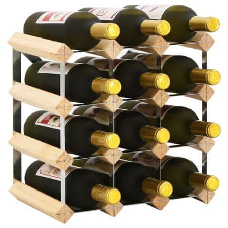 shumee tömör fenyőfa bortartó állvány 12 palackhoz