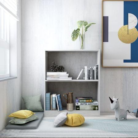 shumee betonszürke forgácslap könyvespolc 60 x 24 x 74,5 cm
