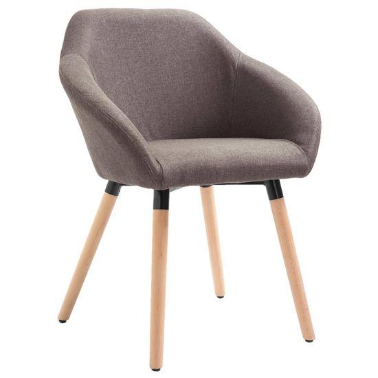 Jedálenská stolička sivohnedá látková