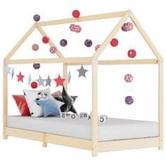 shumee Detský posteľný rám 80x160 cm borovicový masív