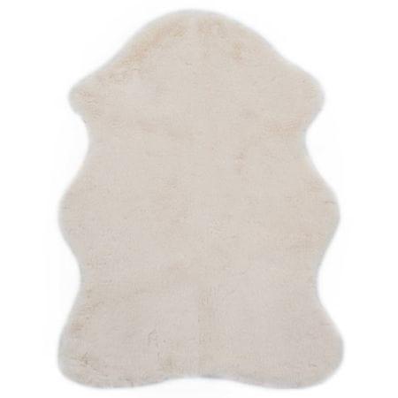 shumee krémszínű műnyúlszőr szőnyeg 65 x 95 cm