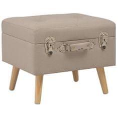 shumee Úložná stolička 40 cm béžová látková