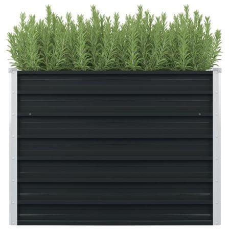 shumee antracitszürke horganyzott acél kerti magaságyás 100x100x77 cm