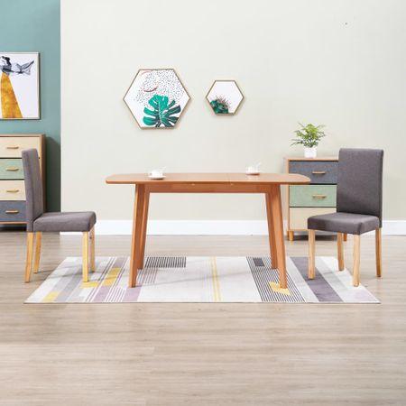 shumee Krzesła stołowe, 2 szt., kolor taupe, tapicerowane tkaniną