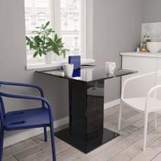 shumee Jídelní stůl černý s vysokým leskem 80 x 80 x 75 cm dřevotříska