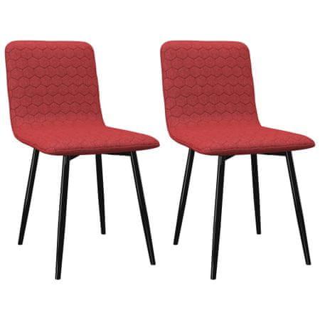slomart Jedilni stoli 2 kosa vinsko rdeče blago