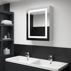 shumee LED koupelnová zrcadlová skříňka 50 x 13 x 70 cm
