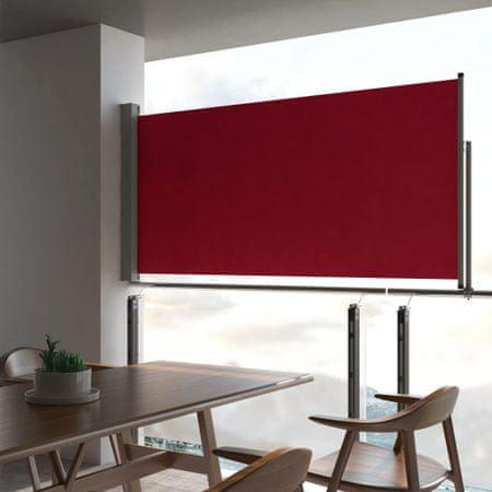 shumee Wysuwana markiza boczna na taras, 120 x 300 cm, czerwona