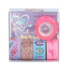 Miss Melody Dekoracyjne taśmy klejące Miss Melody ASST, 1x uchwyt, 5x taśma - fioletowa