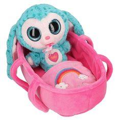 Ylvi and Minimoomis Pluszowa zabawka z dźwiękiem Minimoomis, Cooco, wysokość 18 cm, z łóżeczkiem
