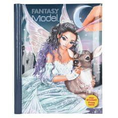 Fantasy Model Maľovanky , Víla s laňkou, so samolepkami, kniha so zvukom a svetlami