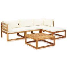 shumee 5-cz. zestaw mebli ogrodowych z poduszkami, drewno akacjowe